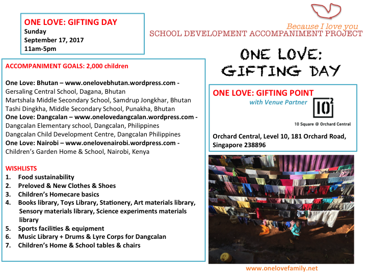 One Love Gifting Day - Sept 17, 2017
